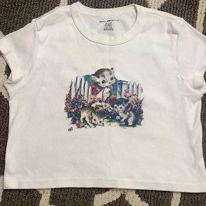 Brandy Melville Crop t-shirt~
